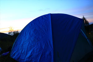 camping di gunung pangonan Dieng